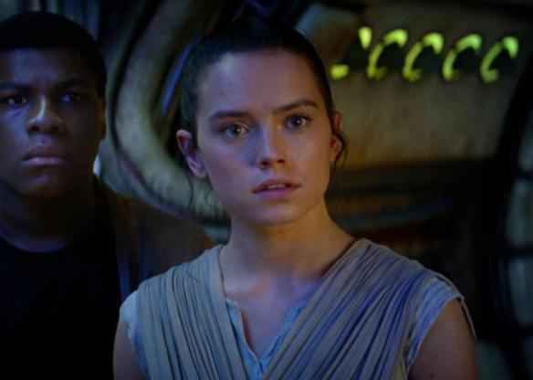 Rey (Daisy Ridley) in The Force Awakens.